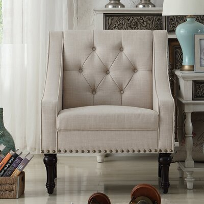 Christiansburg Tufted Armchair Upholstery : Beige