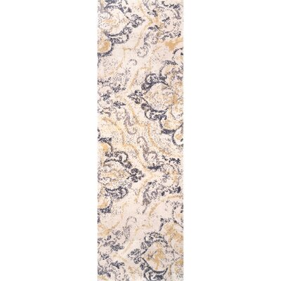 Zanesville Ivory/Yellow Area Rug Rug Size: Runner 26 x 8