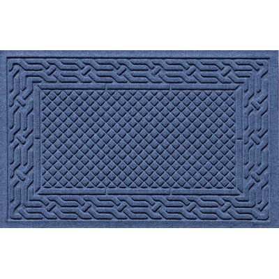 Olivares Acropolis Doormat Color: Navy, Mat Size: Rectangle 24 x 36