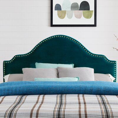 Leeds Upholstered Panel Headboard Upholstery: Mallard Velvet, Size: King/California King