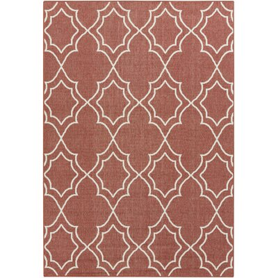 Amato Red Indoor/Outdoor Area Rug Rug Size: Rectangle 23 x 46