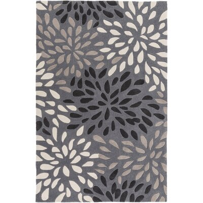 Carrie Hand-Tufted Gray Area Rug Rug Size: Rectangle 5 x 8
