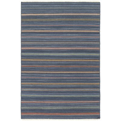 Nashville Hand-Woven Navy Area Rug Rug Size: Rectangle 5 x 76