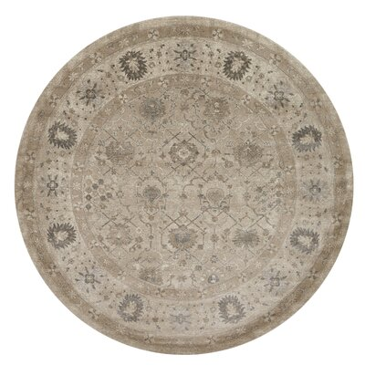 Adelbert Taupe Area Rug Rug Size: Round 77