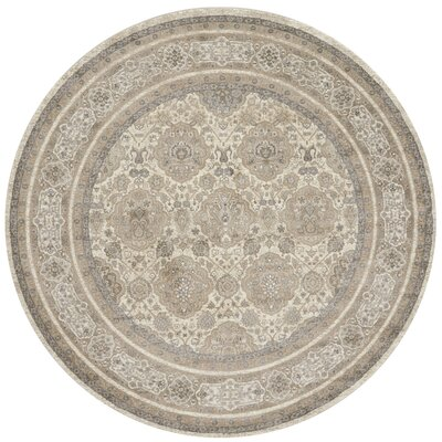 Adelbert Sand/Taupe Area Rug Rug Size: Round 93