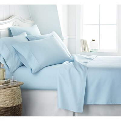 Twitchell 400 Thread Count 100% Cotton Sheet Set Size: King, Color: Blue