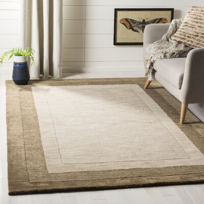 Dashiell Hand-Loomed Beige/Brown Area Rug Rug Size: Rectangle 5 x 8
