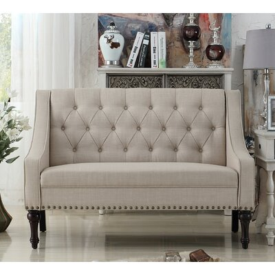 Christiansburg Tufted Loveseat Upholstery: Beige