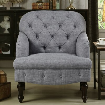 Holtz Club Chair Upholstery: Gray