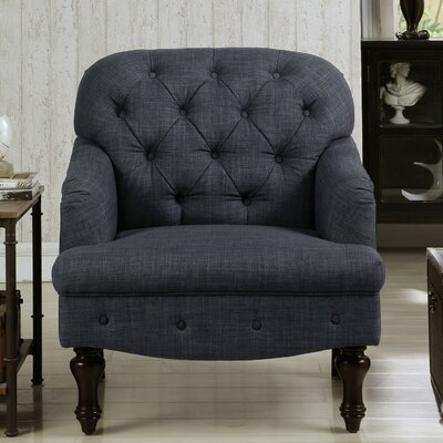 Holtz Club Chair Upholstery: Charcoal