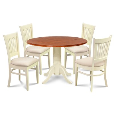 Thornhill Round Carved 5 Piece Dining Set