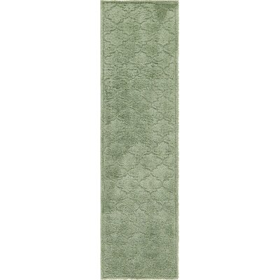 Moore Green Area Rug Rug Size: Rectangle 10 x 26