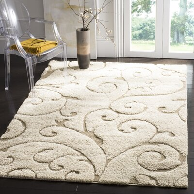 Henderson Area Cream/Beige Rug Rug Size: Rectangle 4 x 6