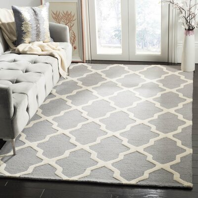 Sugar Pine Hand-Tufted Gray Area Rug Rug Size: Rectangle 4 x 6
