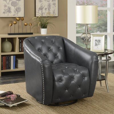 Groveport Swivel Barrel Chair Upholstery: Lividity