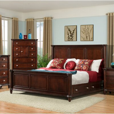 Bancroft Woods Storage Panel Bed Size: King