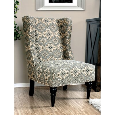 Anheuser Contemporary Wingback Chair Upholstery: Damask