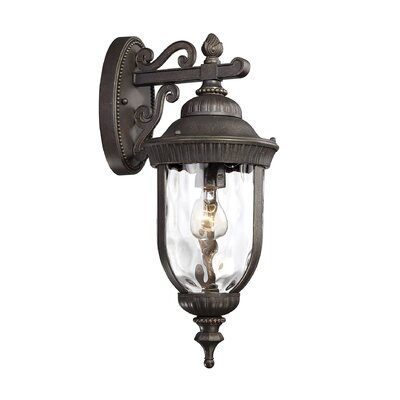 Brannon Walnut Outdoor Wall lantern Size: 20.25 H x 8 W