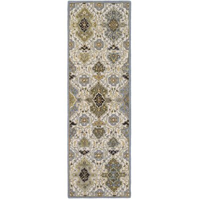 Pottershill Hand-Tufted Slate/Olive Area Rug Rug Size: Runner 26 x 8