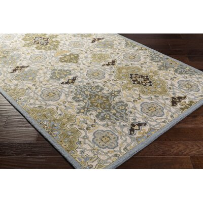 Pottershill Hand-Tufted Slate/Olive Area Rug Rug Size: Rectangle 5 x 76