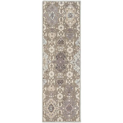 Pottershill Gray & Slate Area Rug Rug Size: Runner 26 x 8