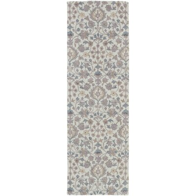 Pottershill Moss & Gray Area Rug Rug Size: Runner 26 x 8