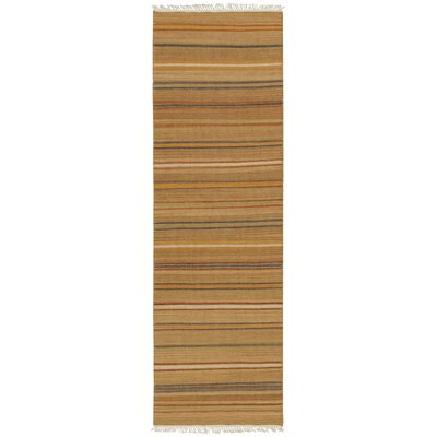 Nashville Hand-Woven Tan Area Rug Rug Size: Runner 26 x 8