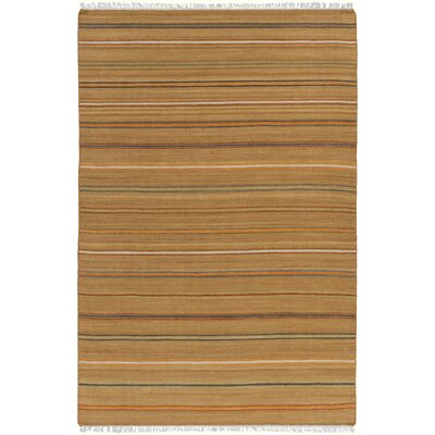 Nashville Hand-Woven Tan Area Rug Rug Size: Rectangle 5 x 76