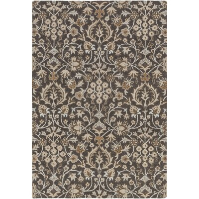 Pottershill Black/Light Gray Area Rug Rug Size: Rectangle 5 x 76