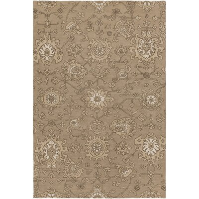 Langport Hand-Tufted Brown Area Rug Rug Size: Rectangle 6 x 9