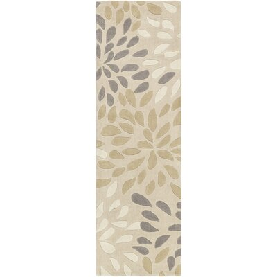 Carrie Hand-Tufted Ivory Area Rug Rug Size: Runner 26 x 8