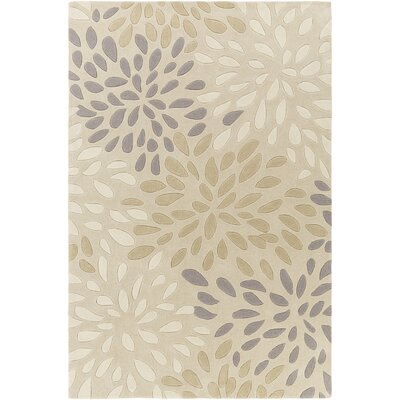 Carrie Hand-Tufted Ivory Area Rug Rug Size: Rectangle 5 x 8