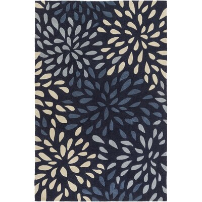 Carrie Hand-Tufted Navy Area Rug Rug Size: Rectangle 5 x 8
