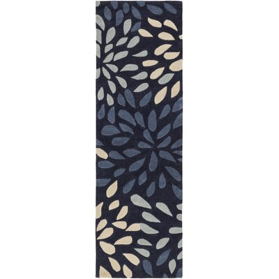 Carrie Hand-Tufted Navy Area Rug Rug Size: Runner 26 x 8