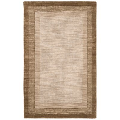 Dashiell Hand-Loomed Beige/Brown Area Rug Rug Size: Rectangle 3 x 5