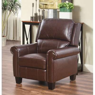 Bumpy Manual Recliner Upholstery: Brown