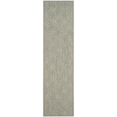 Bexton Green/Gray Area Rug Rug Size: Runner 23 x 8