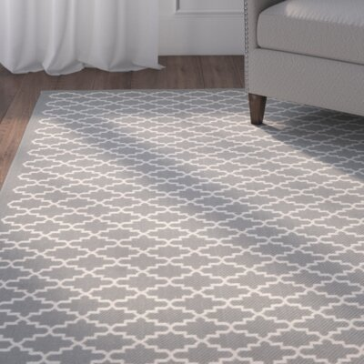 Bexton Anthracite/Beige Indoor/Outdoor Area Rug Rug Size: Rectangle 53 x 77