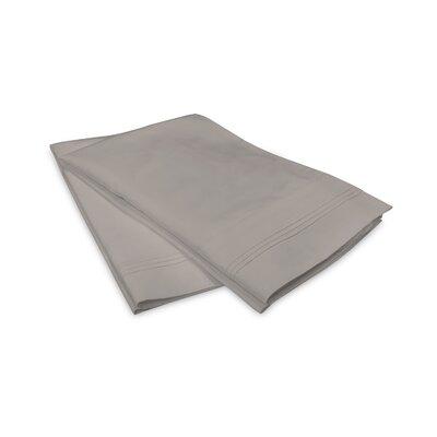 Schueller 100% Long Staple Cotton Pillowcase Size: King, Color: Gray