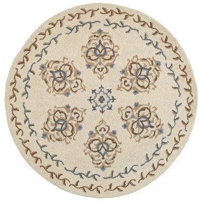 Chesapeake Plush Handmade Ivory Indoor Area Rug Rug Size: Round 6