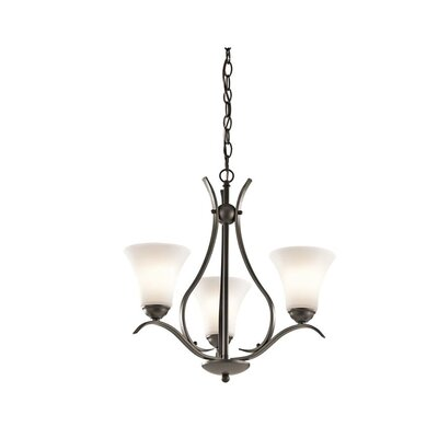 Bourne 3-Light Shaded Chandelier Finish: Olde Bronze