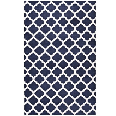 Tusten Moroccan Trellis Navy/Ivory Area Rug Rug Size: Rectangle 5 x 8