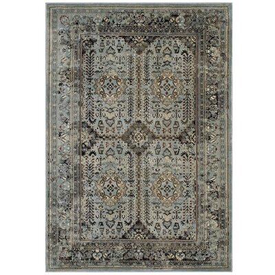 Houtz Vintage Gray/Beige Area Rug Rug Size: Rectangle 5 x 8