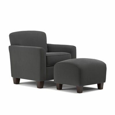 Armchair and Ottoman Upholstery: Gray