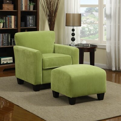 Armchair and Ottoman Upholstery: Pear