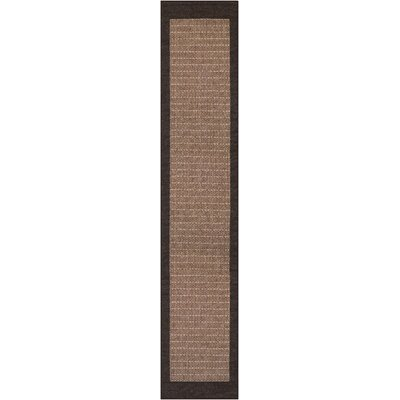 Owen Checkered Field Cocoa/Black Indoor/Outdoor Area Rug Rug Size: Runner 23 x 119