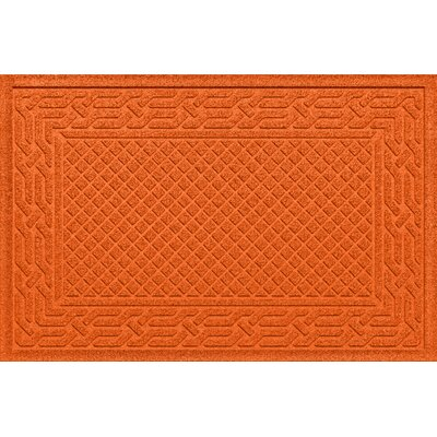 Olivares Acropolis Doormat Color: Orange, Mat Size: Rectangle 24 x 36
