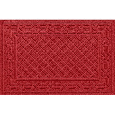 Olivares Acropolis Doormat Color: Solid Red, Mat Size: Rectangle 30 x 45