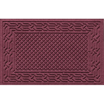 Olivares Acropolis Doormat Color: Bordeaux, Mat Size: Rectangle 24 x 36