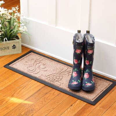 Keppler Pineapple Boot Tray Color: Medium Brown